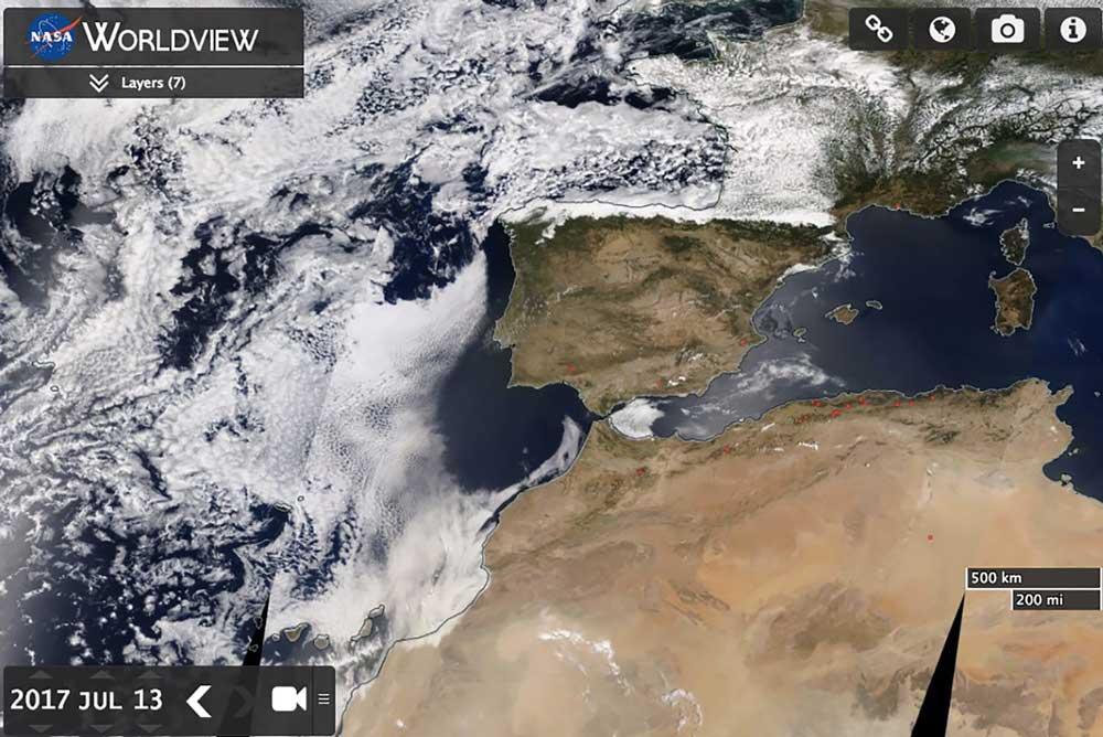 La ola de calor coincidió con una entrada muy fuerte de polvo africano.