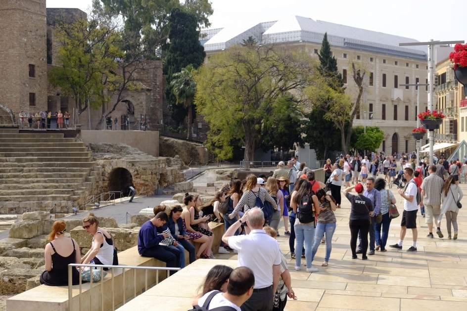 Turistas en la ciudad de Málaga.
