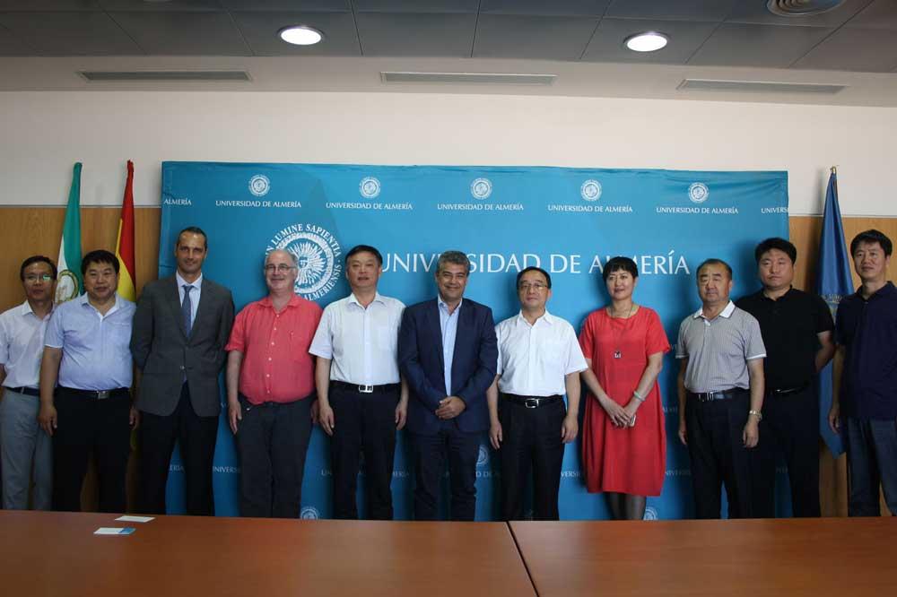 Delegación china en la Universidad de Almería.