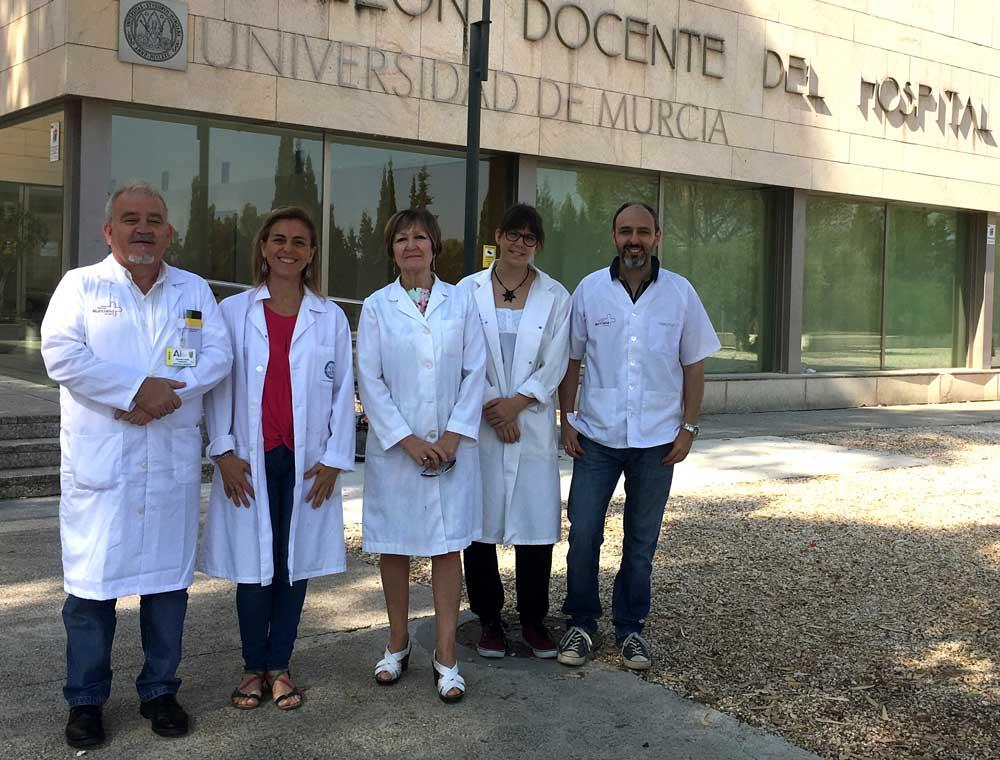 Grupo de Inmunolgía de la UMU que realiza el estudio.