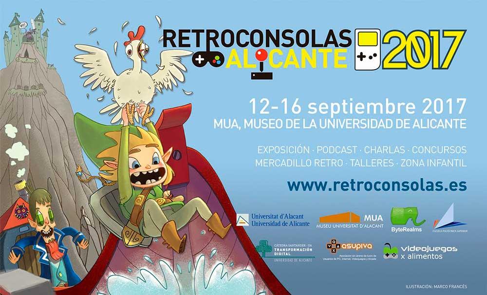 Cartel anunciador de 'Retroconsolas Alicante 2017'