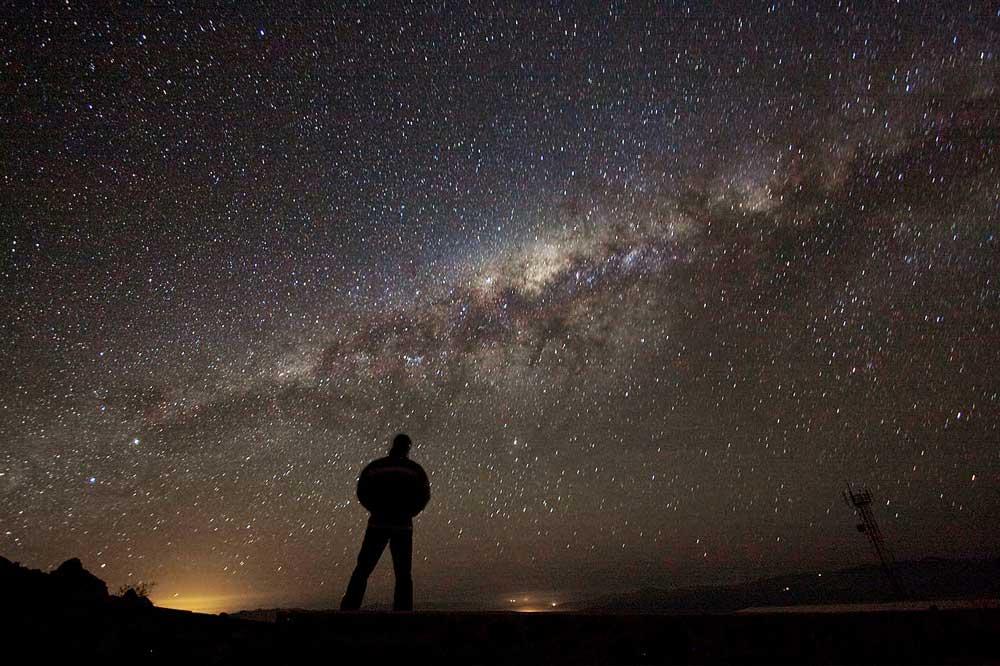 La vía Láctea desde el desieto de Atacama, en Chile.