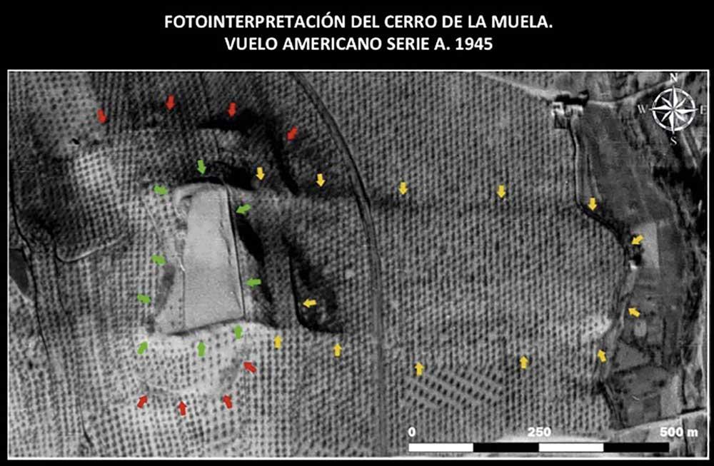 Imagen aérea tomada en 1945.