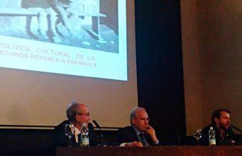 Alfonso Guerra durante su conferencia.