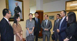 Alumnos chinos y coreanos de la UPCT.