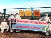 Protesta de Ecologistas en Acción para acabar de una vez con los residuos en Palomares.