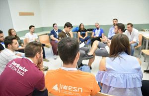 Representantes de la red Erasmus en la UPCT.