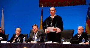 Manuel Palomar, rector de la UA, en la apertura del curso.