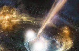 Recreación de las ondas gravitatorias.