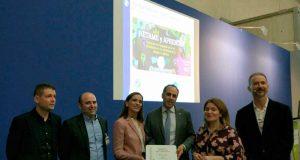 El rector de la UPCT ha recogido el premio en SIMO.