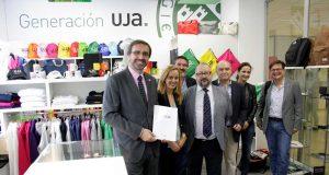 El rector ha inaugurado la tienda oficial de la UJA.
