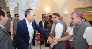 El rector de la UPCT con representantes de las universidades indias.