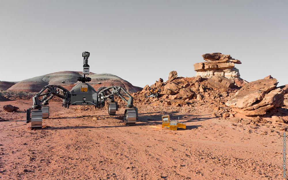 Prototipo del vehículo que viajará a Marte en 2030.