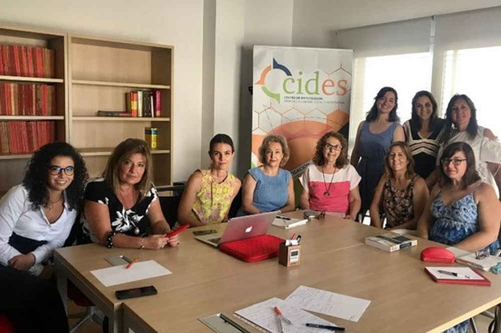 Reunión de CIDES, centro de investigación de la UAL.
