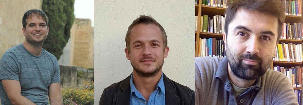 Hugo Viciana, Antonio Gaitán e Ivar Rodríguez, autores del estudio sobre discriminación política