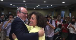 Pilar Aranda celebra la victoria.