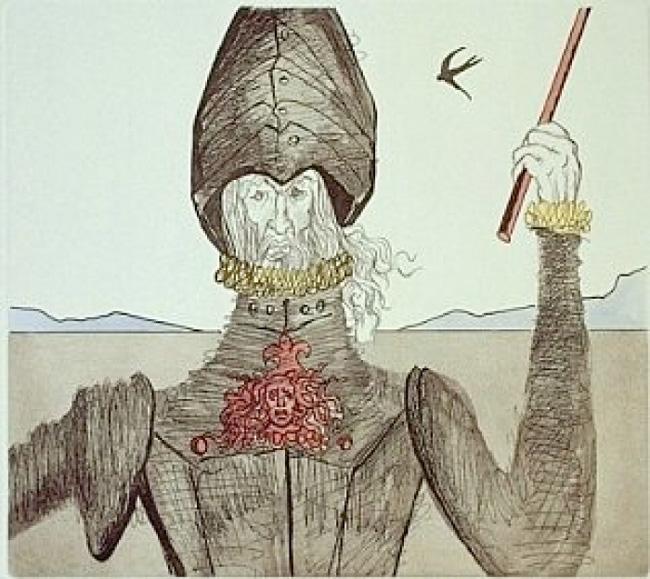 Un de las obras de la serie dedicada a Don Quijote.