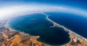 Vista aérea del Mar Menor y Campo de Cartagena.