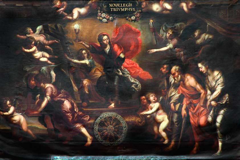 Una copia pictórica de la Escuela Flamenca.