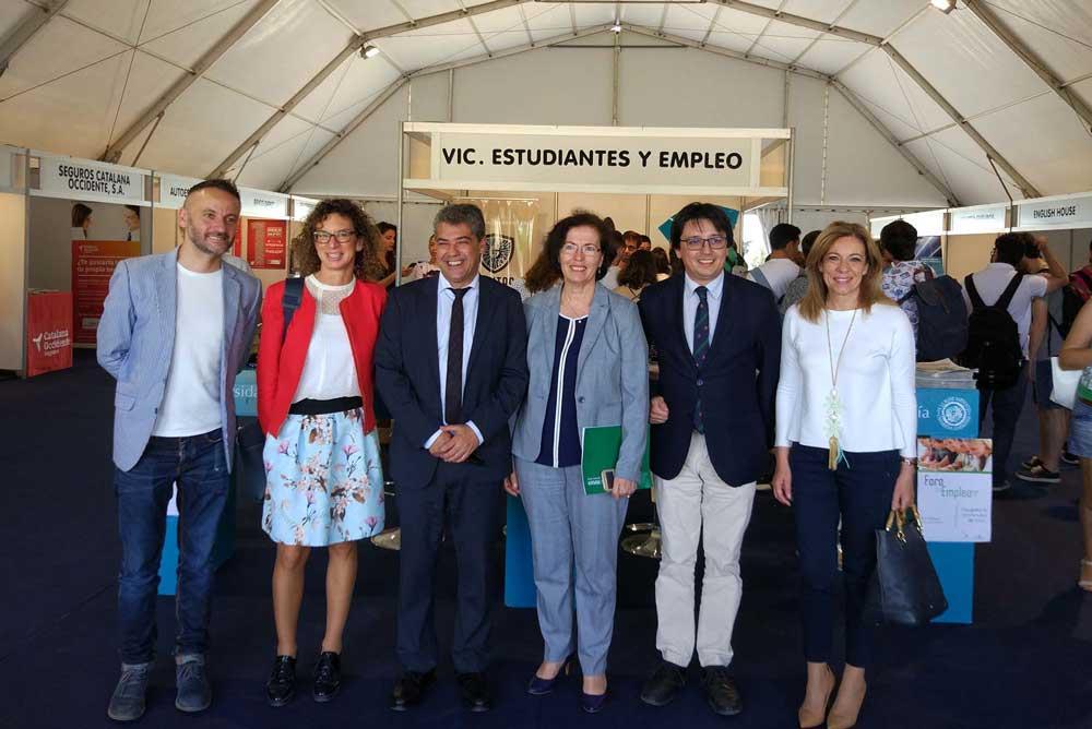 Inauguración de la Feria de Empleo de la UAL.