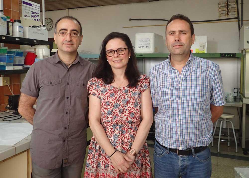 Científicos del grupo de investigación 'Mejora y Biotecnología de Especies Hortofrutícolas' de la Universidad de Málaga.