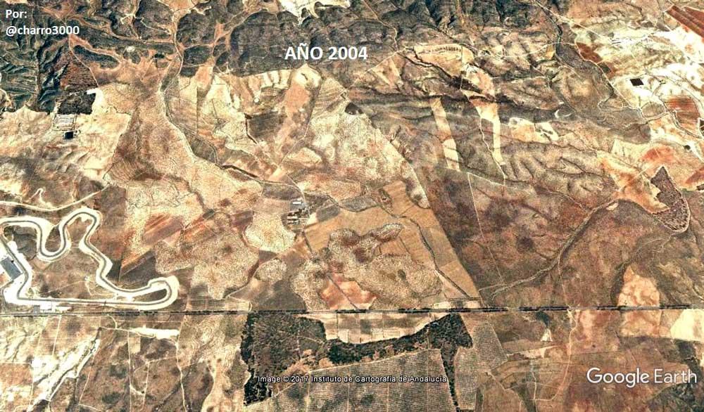 Estado de los terrenos en 2004.
