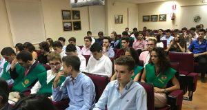 Alumnos alojados en el Colegio Mayor Domingo Savio de la UJA.