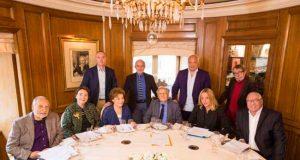 Los diez miembros de la Academia Goncourt.