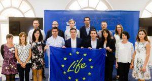 Presentación del proyecto Life Alchemia en la Diputación Provincial junto al Ciesol de la Universidad de Almería y sus homólogas de Estonia.