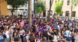 Fiesta en el Campus La Merced de la Universidad de Murcia.