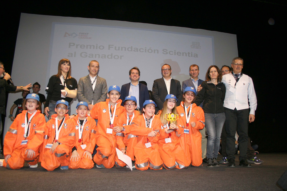 Ganadores de la fase local de la First Lego League disputada en Almería.