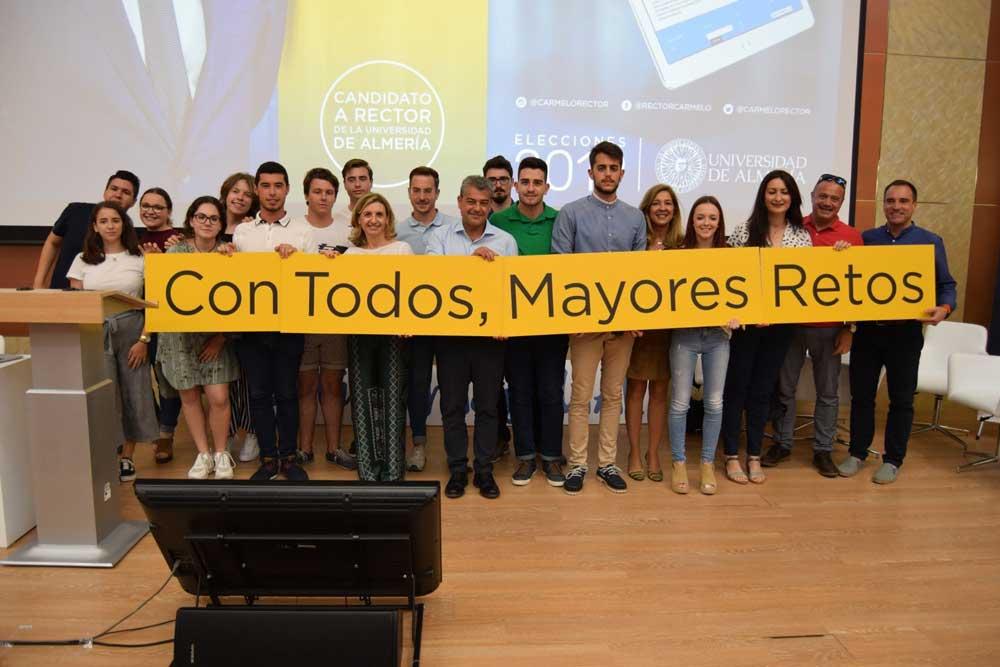 Presentación de la candidatura de Carmelo Rodríguez al rectorado de la Universidad de Almería.