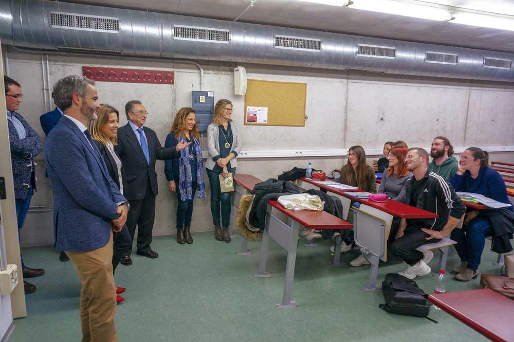 Tomás Fuertes, en una visita realizada a la Facultad de Economía  y Empresa.