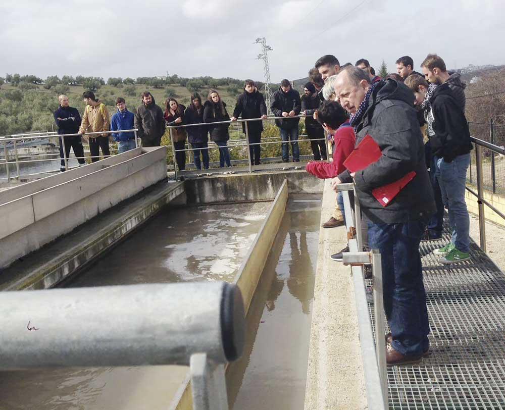 Visita de los alumnos del Máster en Técnicas y Ciencias de la Calidad del Agua a una EDAR