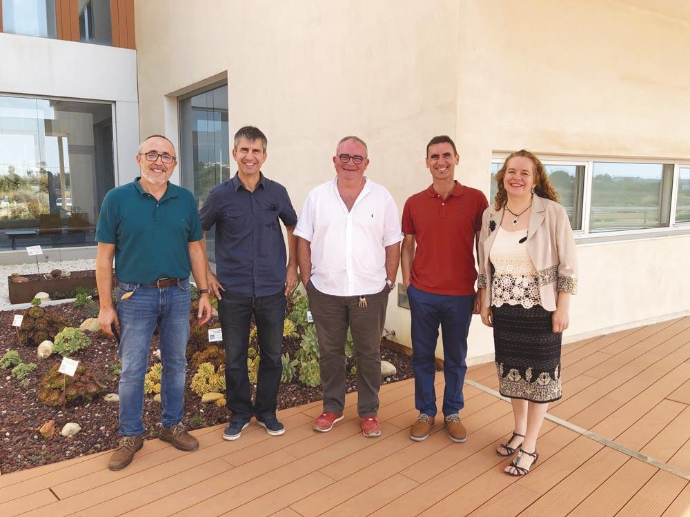 Investigadores de CEINSA: José Granero, José Manuel Cimadevilla, Fernando Sánchez, Antonio Granero y Mª Victoria Román.