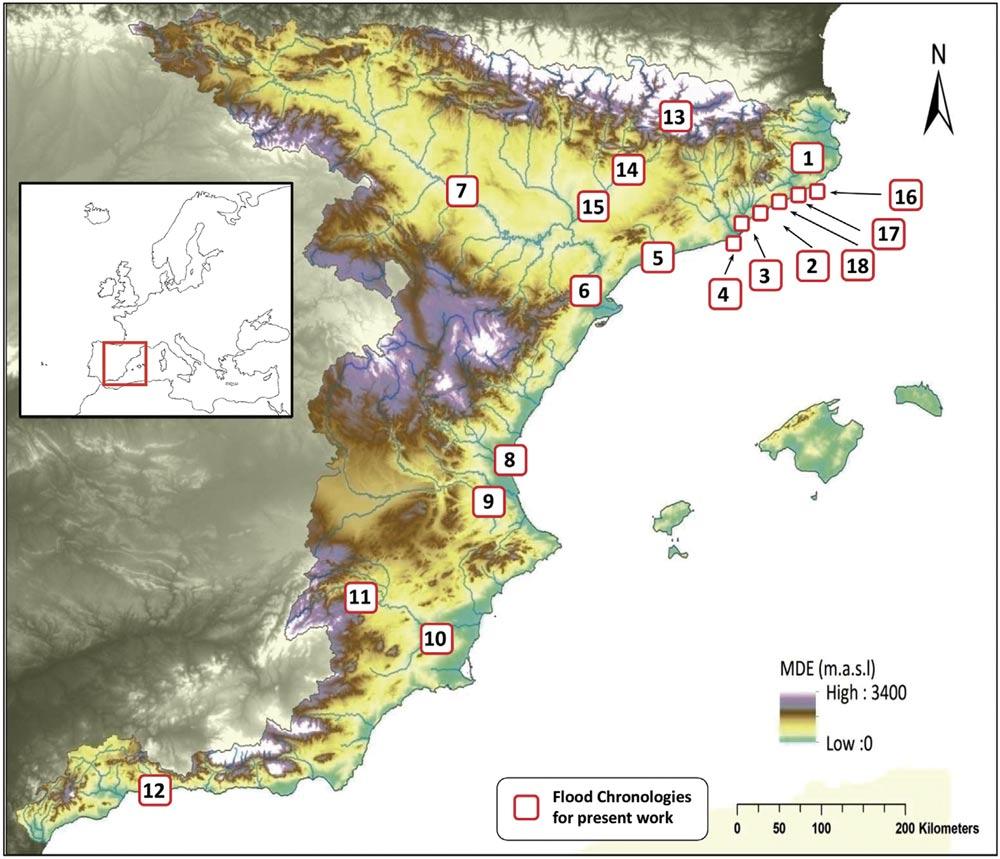Mapa de inundaciones históricas