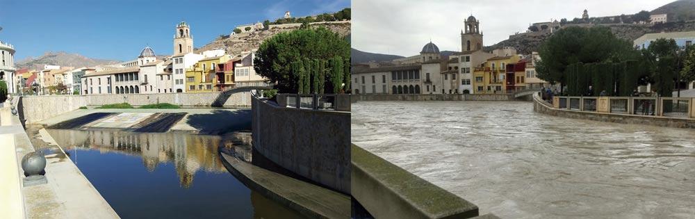 El encauzamiento del río Segura fue insuficiente en Orihuela.