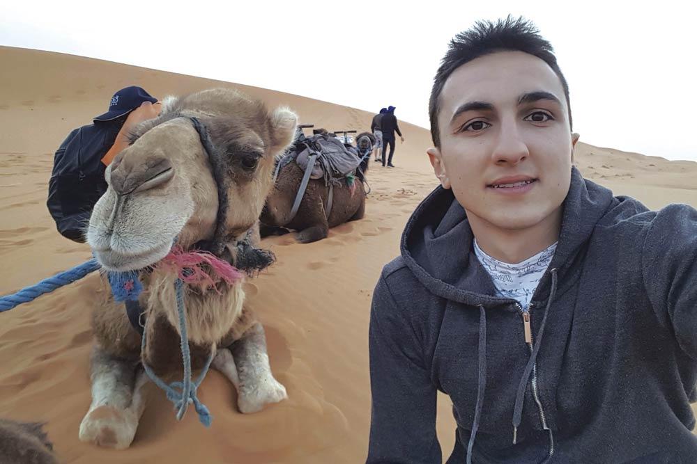 Ayad Mercer Laaouissi, un estudiante de la UAL que disfrutó de una Erasmus KA-107 en Marrakech.