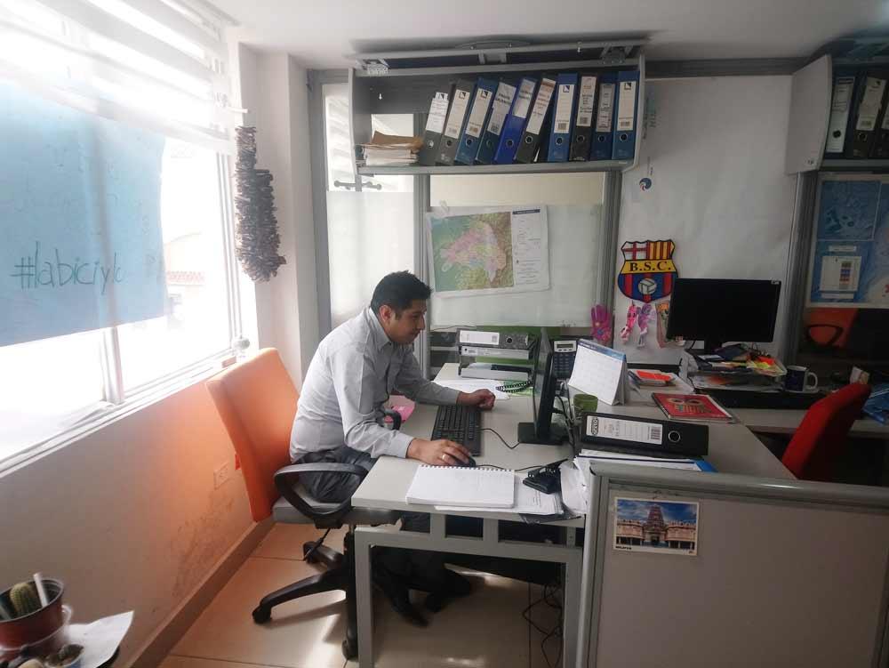 Marco Martínez, estudiante ecuatoriano del Máster Idea de calidad de agua.