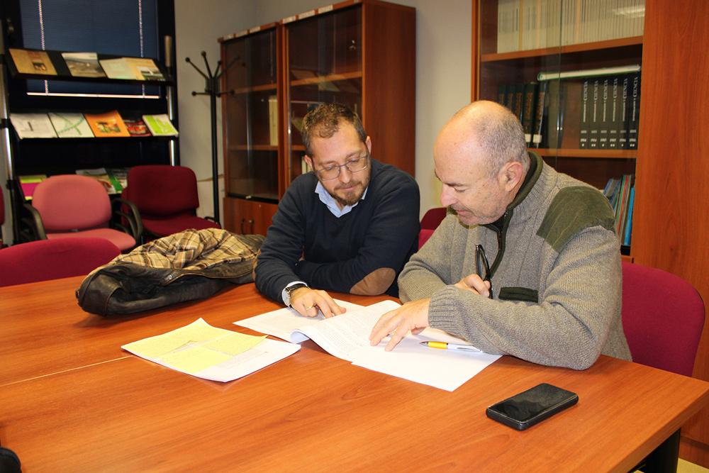 Francisco Guerrero y Alejandro Fornell, investigadores de la UJA.