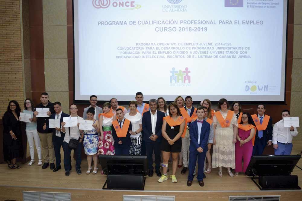 Graduación de la pasada promoción del curso para la inserción laboral de personas con discapacidad