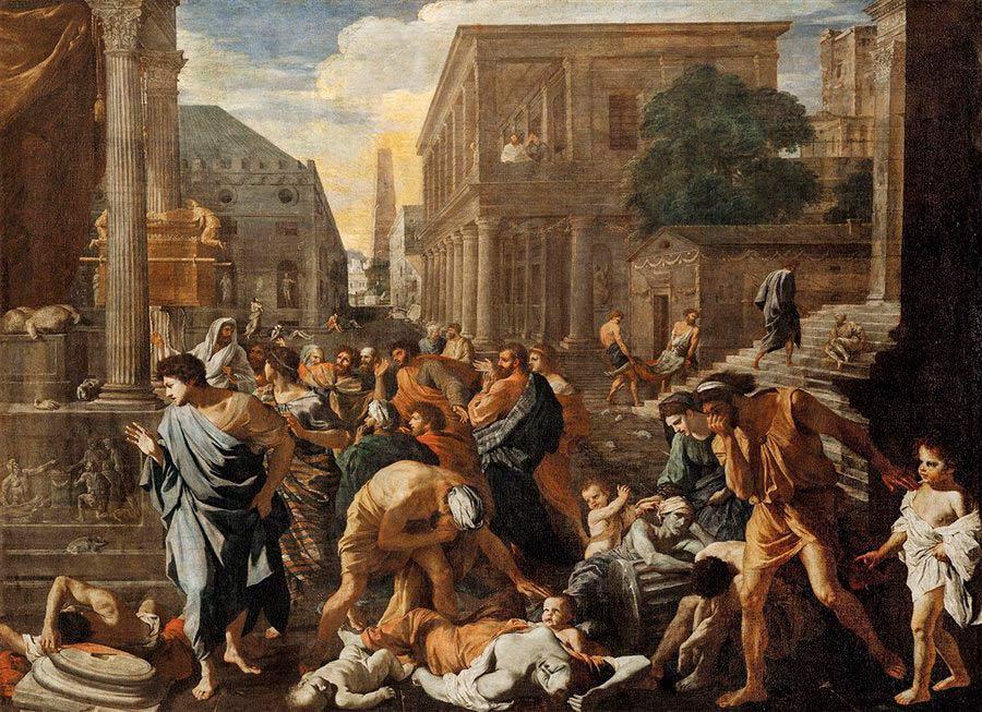 Nicolas Poussin retrató así la peste de Justiniano, entre las pandemias y epidemias más dañinas del mundo antiguo.