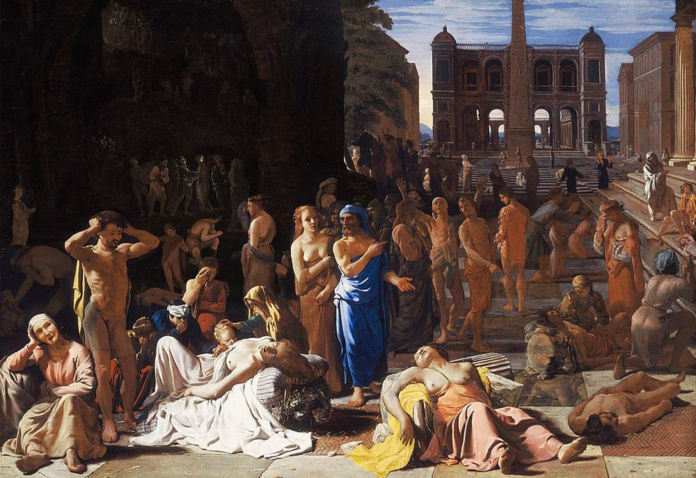 La Peste de Atenas, de Michiel Sweerts, recrea esta epidemia histórica.