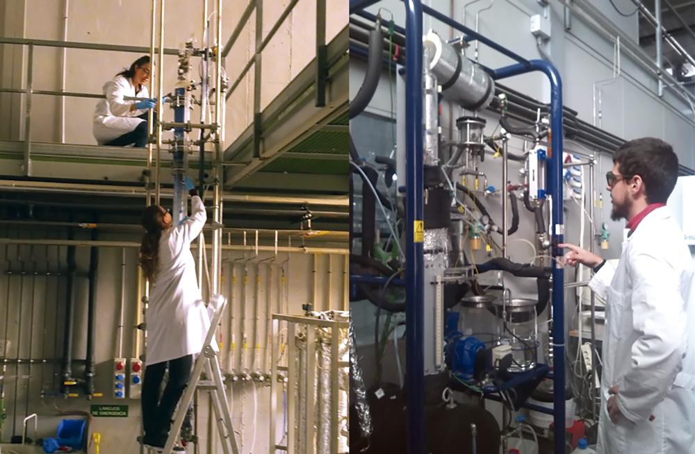 Prácticas en planta piloto del máster en ingeniería química de la universidad de alicante