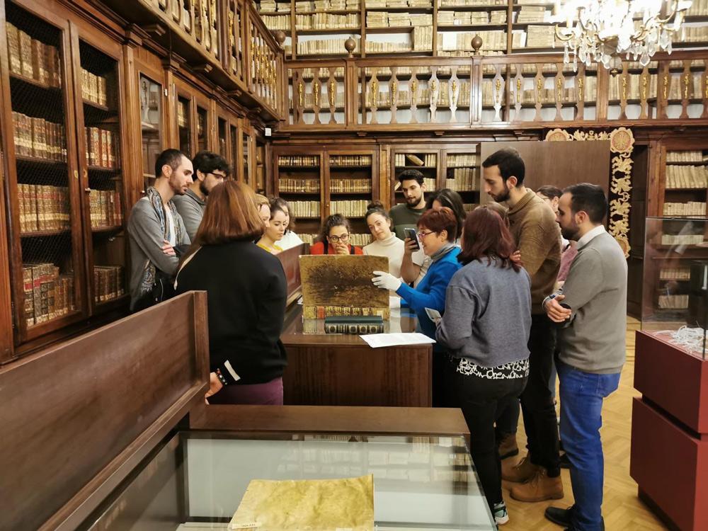 Alumnos del Máster en Patrimonio de la UCLM en la Colección Borbón Lorenzana.