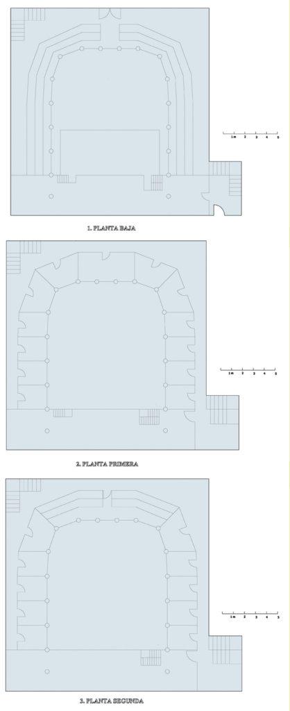 Plano de corral de comedias de Cartagena.