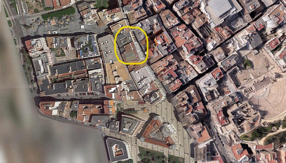 Posible ubicación del corral de comedias de Cartagena.